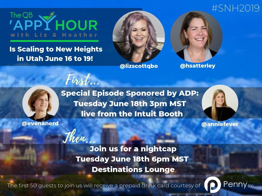 Can't believe it's been a year since @qbappyhour launched at #SNH! This year we're back at it with a special special live episode, a night cap & giveaways YOU. DO. NOT. WANT. TO. MISS. THIS.