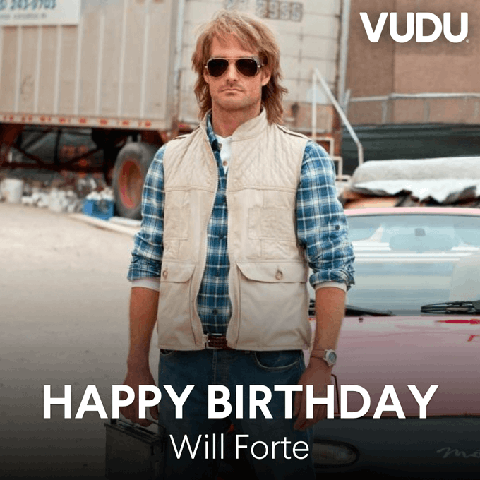Happy birthday to Will Forte! Who could forget the birthday of the last man on earth?