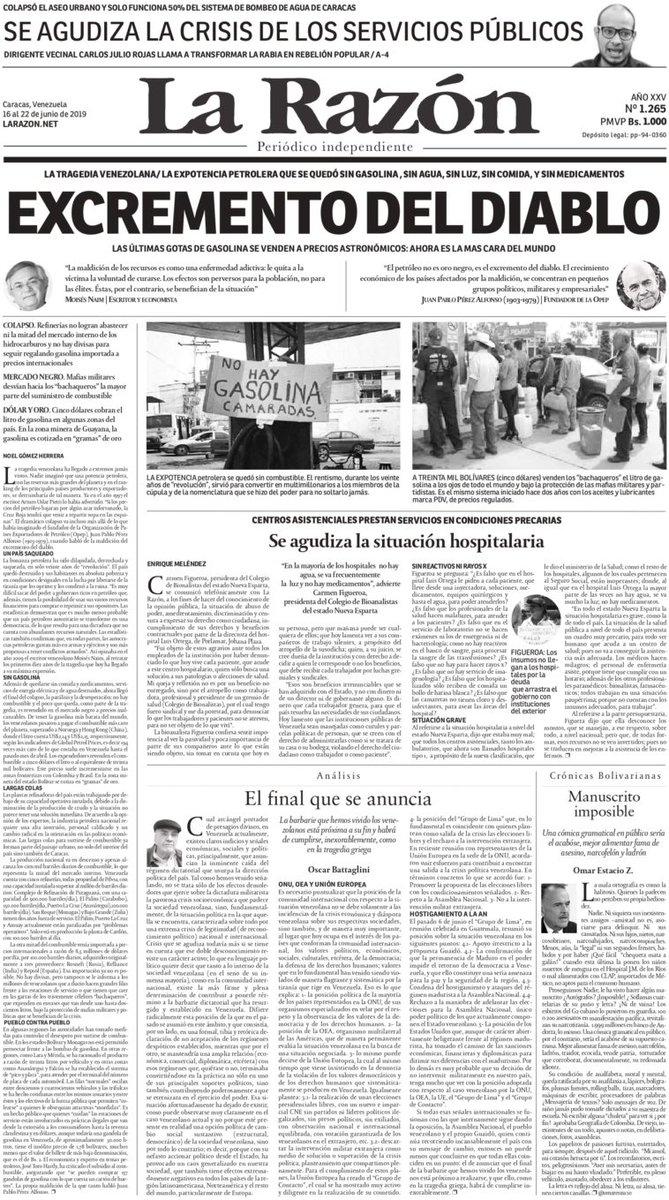 LA MALDICIÓN DEL PETRÓLEO, excremento del diablo. Todo sobre la crisis de la gasolina. Edición impresa de @LaRazon__