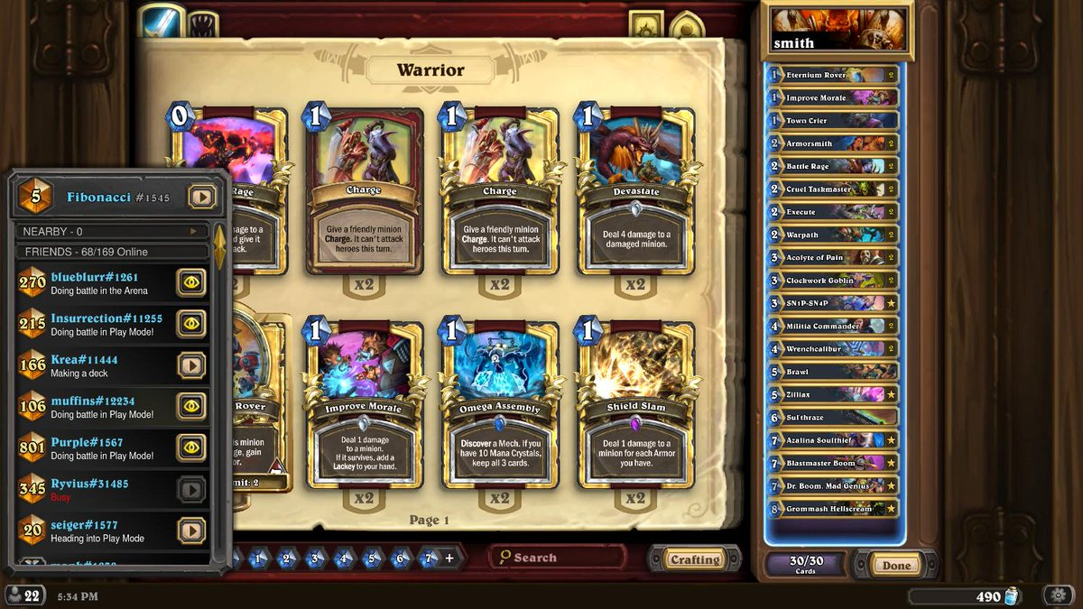 pretty nice stream today climbed from top100 to top5 with fast bomb warrior. perma stuck at 3 and ended at 5. gonna try to get 1 tmr  AAECAQcKS9ICmu4CnfACkvgCoIADiIcDm5QDhJ8Dn7cDCp0CkAPUBJEG+wyb8wLR9QKz/AKXlAOalAMA