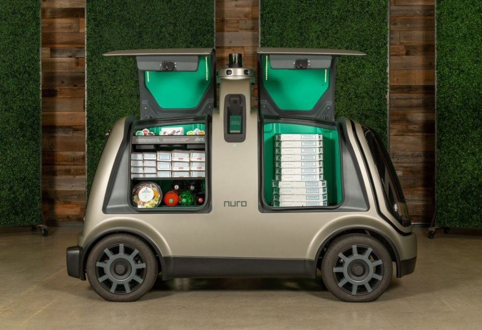 Nuro's R2 Self-driving vehicle for Domino's Pizza Delivery In Houston