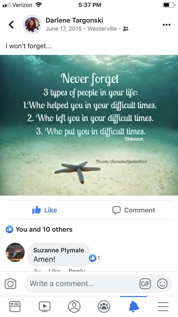 L❤️VE this. I would add #4 Who stood by you in difficult times!❤️