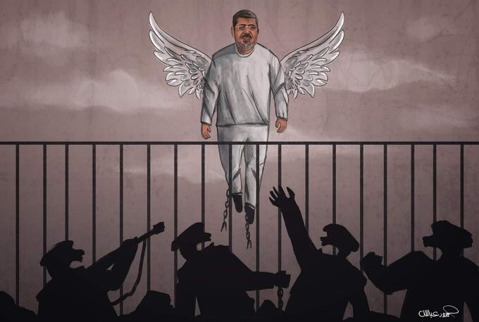 He is free now! May Allah give him the highest place in jannah!  #محمد_مرسي #محمد_مرسي_شهيداً<br>http://pic.twitter.com/4HmeEseDKW