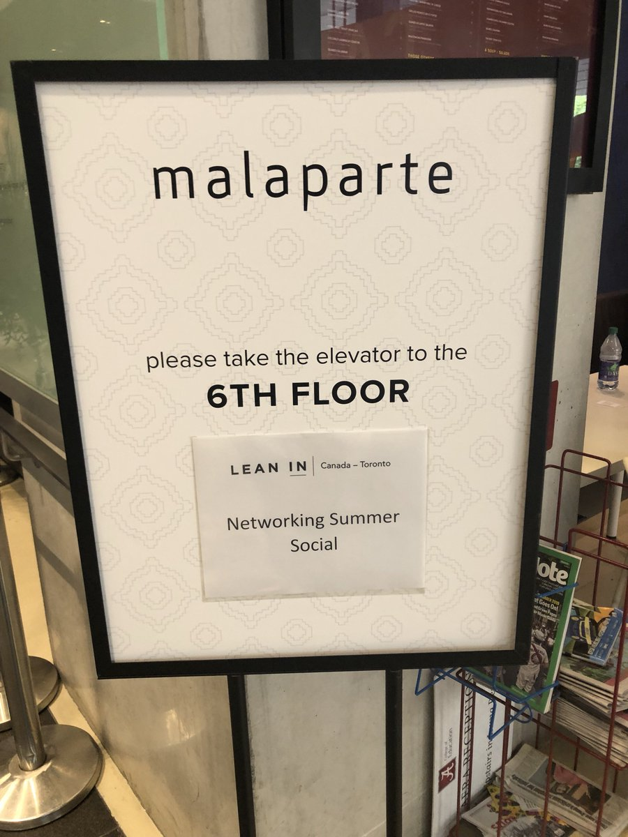Toronto: joining us at #Malaparte at #TIFF Bell Lightbox? We're on the 6th floor. #leanincanada #leanintoronto