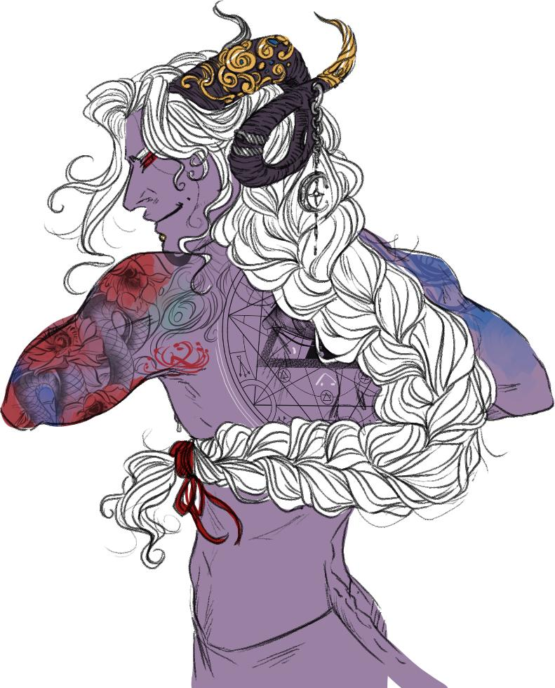 The first gasp of air that passed long dead lips took all the color of their hair with it.  #mollymauk #criticalrole <br>http://pic.twitter.com/6Sw7qKzalp