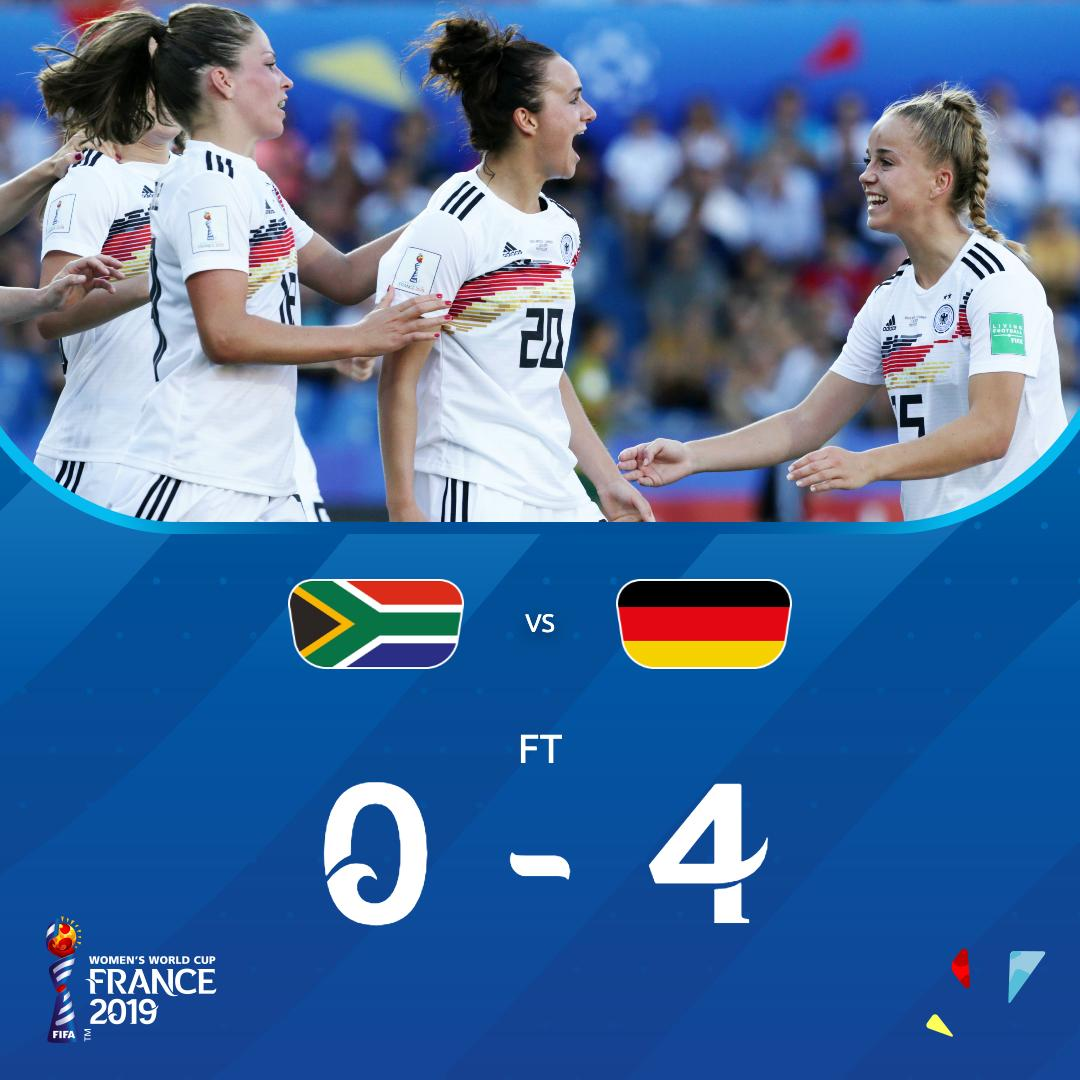Spain and China reach last 16 as Germany thump South Africa 4-0
