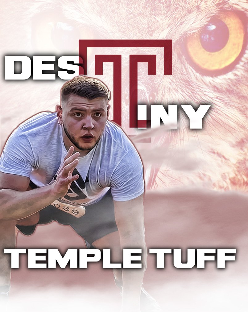 """In 1949, Temple basketball had its """"Owl without a Vowel"""", who went on to become an All-American by 1951.  60 years later, Temple football gets its own """"Owl with too many Vowels"""". But the perfect name for an OL!  Welcome to the family!! @LiridonMujezin1   #TempleTuff #TUFB #GDQ <br>http://pic.twitter.com/NZGjBAbn0j"""