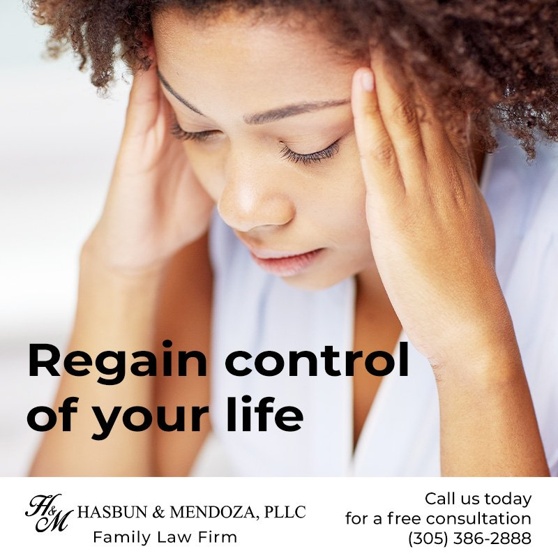 Regain control of your life now with the help of our law firm. . . . #Divorce #FamilyLaw #Florida #PaternityServices #Family #Children #ChildSupport #Adoption #Domesticviolence #Mediation #Hasbun #Mendoza #Hasbunandmendoza #Law