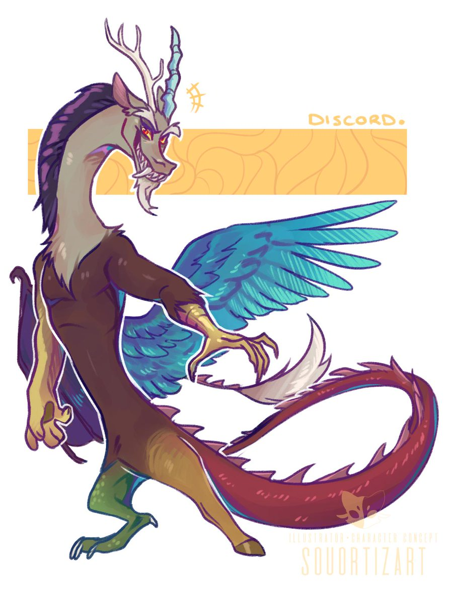 Here's a little fanart sketch from one of my favourites characters from MLP's series: Discord!  Such an adorable chaotic noodle #MLPFiM #mylittlepony <br>http://pic.twitter.com/nM0G0IRjLF