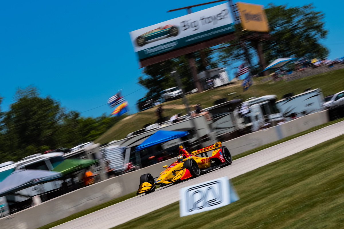 Race week. Headed back to @roadamerica - one of my favorite racetracks on Earth! P2 last year, looking to climb another spot this time. #IndyCar @DHLUS 📸 @Spacesuit_Media
