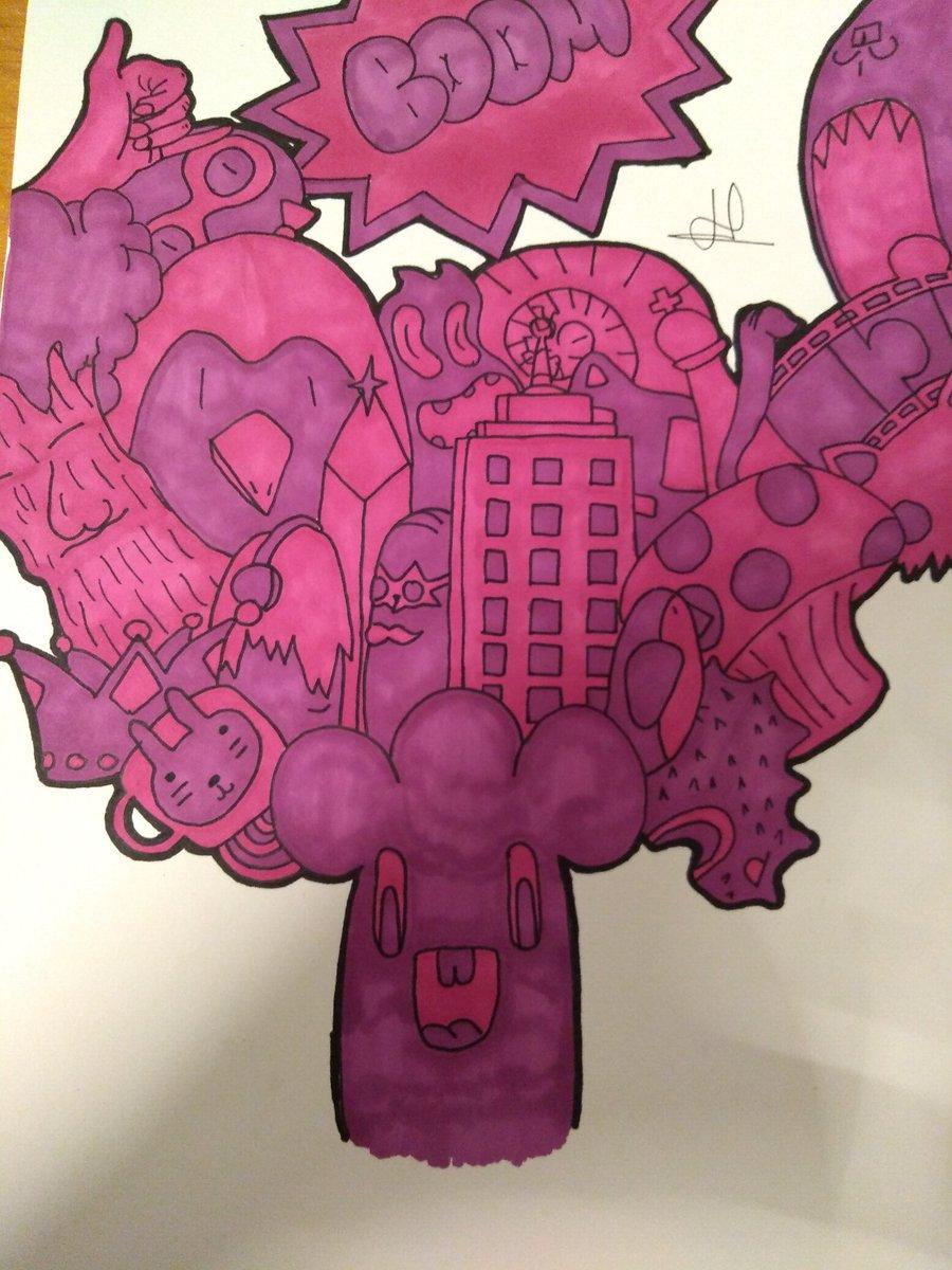 Violet Bicolore #drawing