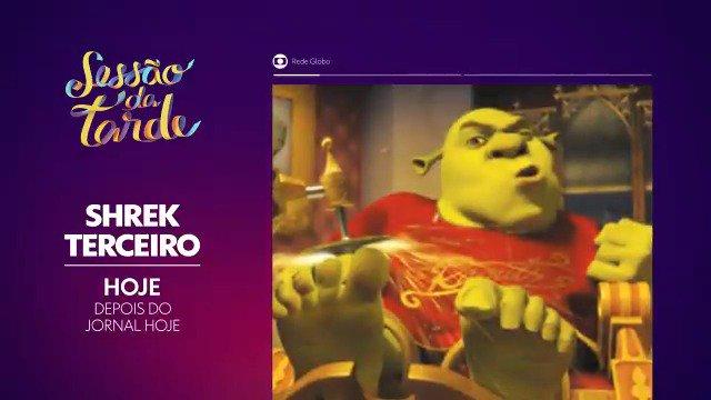 Já tava com saudade desse ogro maravilhoso! 😁#SessãoDaTarde #ShrekTerceiro