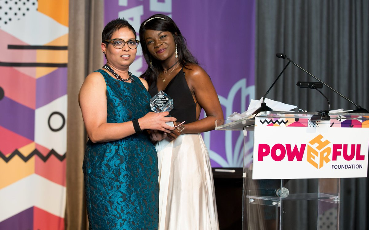 The distinction is in the care our mentors take, and the profound difference they make. Honoring @saxenasunanda of @IBM with the EmpowHER award presented by her mentee DeShawna, who will be starting her career at @IBM, is an example of the power of mentorship and opportunity!