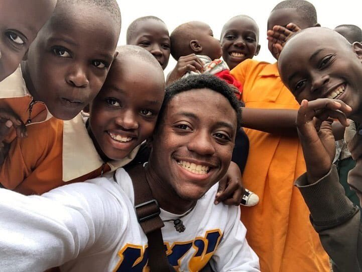 """AAMU band member Deion Dowling is in Uganda participating in community service; and staying true to our motto, """"Service is Sovereignty.""""<br>http://pic.twitter.com/UvlwQepfI8"""