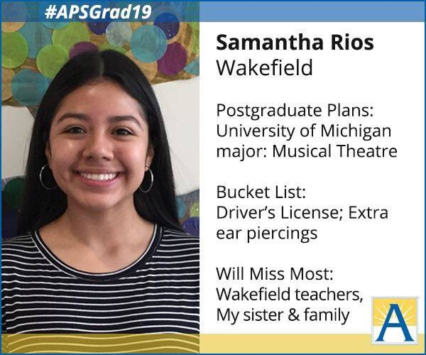 """I'm so excited to be studying a field I'm passionate about. I still must take general education but most of my classes will revolve around dance and music."" <a target='_blank' href='http://search.twitter.com/search?q=APSGrad19'><a target='_blank' href='https://twitter.com/hashtag/APSGrad19?src=hash'>#APSGrad19</a></a> <a target='_blank' href='http://twitter.com/WHSHappenings'>@WHSHappenings</a> <a target='_blank' href='https://t.co/LfVhEs6hpX'>https://t.co/LfVhEs6hpX</a>"