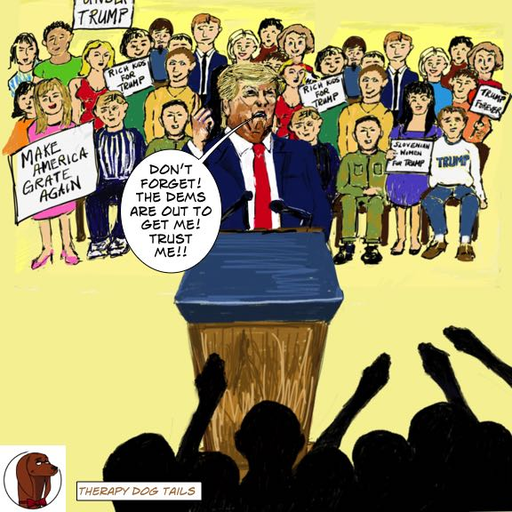 Trump schools the #MAGA base.  Lying to our faces is fascism.  #TrumpLies #1549    http:// therapydogtails.com    <br>http://pic.twitter.com/Fl4tclQsQf