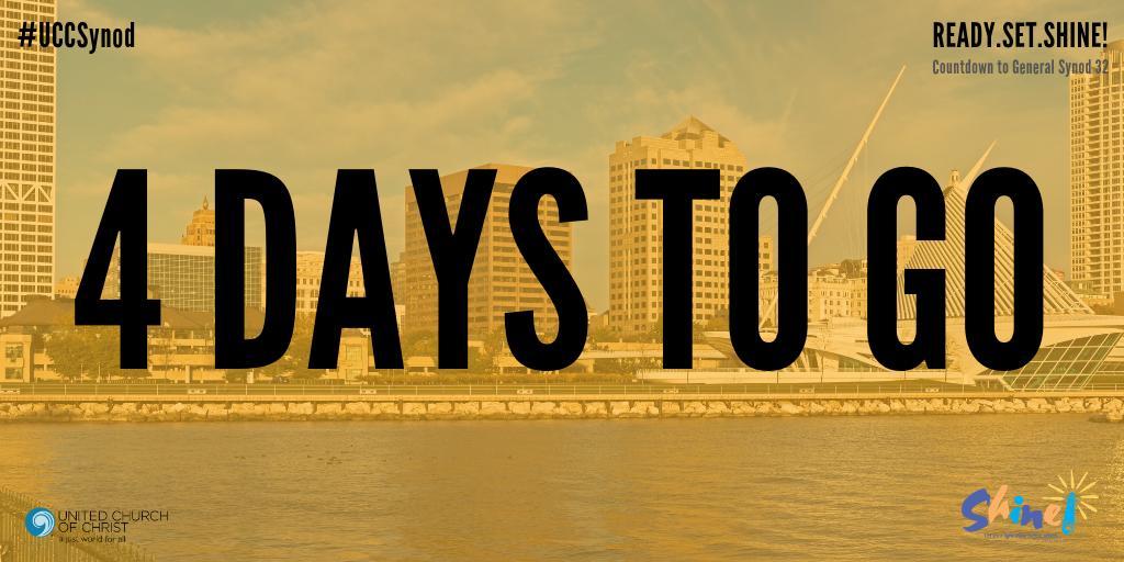 389abf0c3 4 Days to Go Ready.Set.Shine! United Church of Christ #UCCSynod