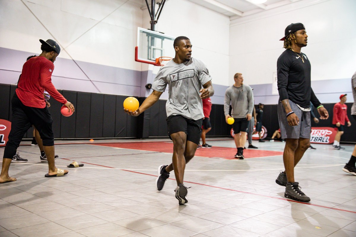 Dodge, duck, dip, dive and dodge.   Our rookies played dodgeball with a local Boys & Girls Club.