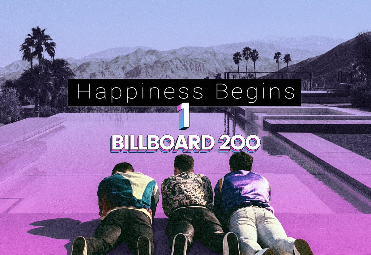 It's official! #HappinessBegins by the @jonasbrothers debuts at no.1 on the #Billboard200 chart and has the biggest debut of 2019!  http:// blbrd.cm/MH2THC    <br>http://pic.twitter.com/ePmuXXj5Jw