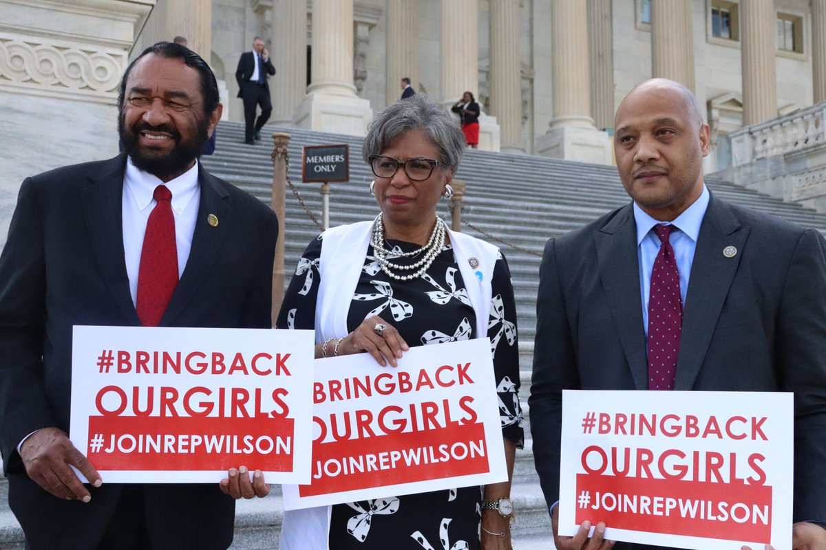 The humanitarian crisis in Nigeria demands action. 112 #ChibokGirls remain in Boko Haram captivity after more than five years. We refuse to let them be forgotten. #BringBackOurGirls @RepAndreCarson @RepAlGreen @RepLawrence