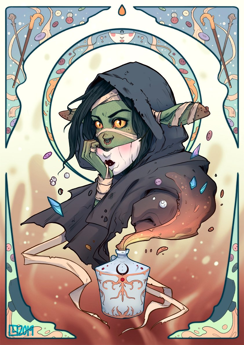 Finished the Nott portrait  Sticks and buttons included  #criticalrolefanart #CriticalRole <br>http://pic.twitter.com/dkrSbNjBbX