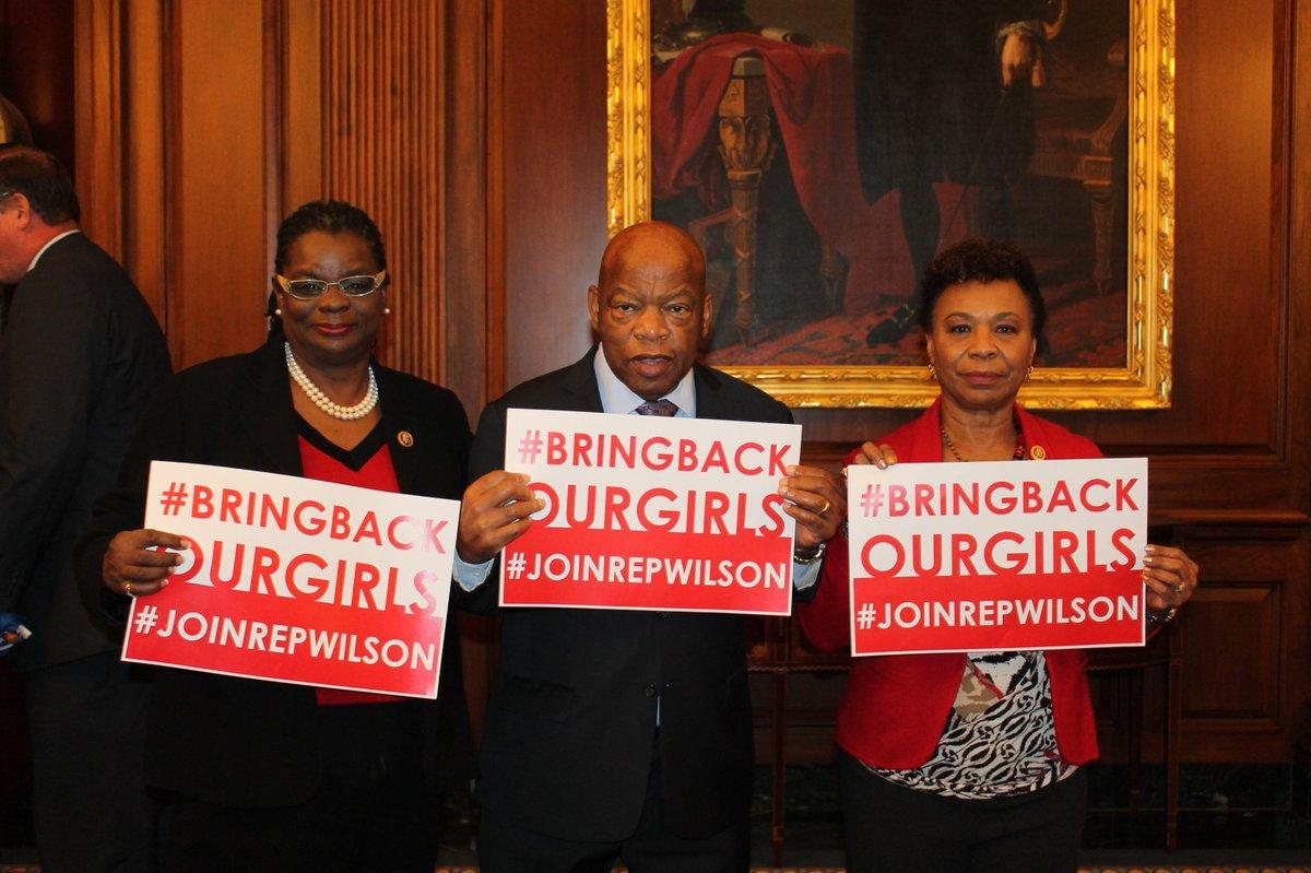 We must bring an end to Boko Harams #ReignOfTerror. #BringBackOurGirls @RepGwenMoore @RepBarbaraLee @repjohnlewis
