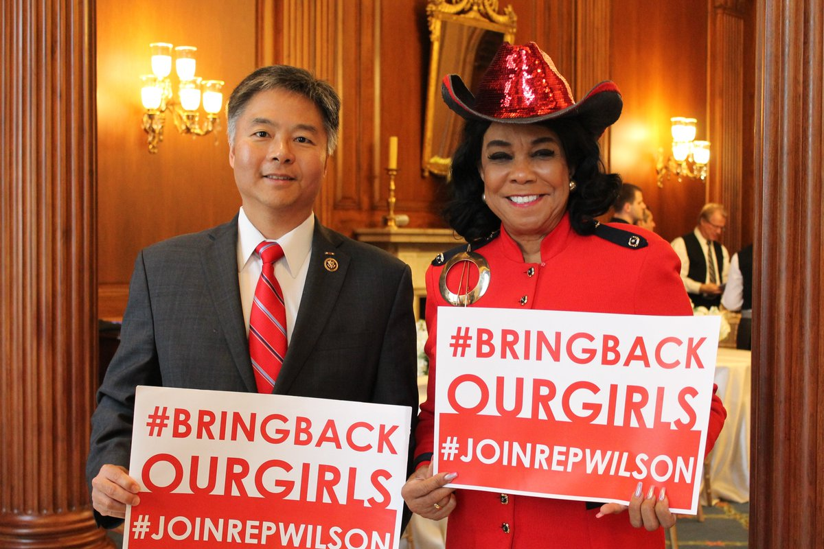 Keeping hope alive for the more than 100 still-missing #ChibokGirls. #BringBackOurGirls @RepTedLieu