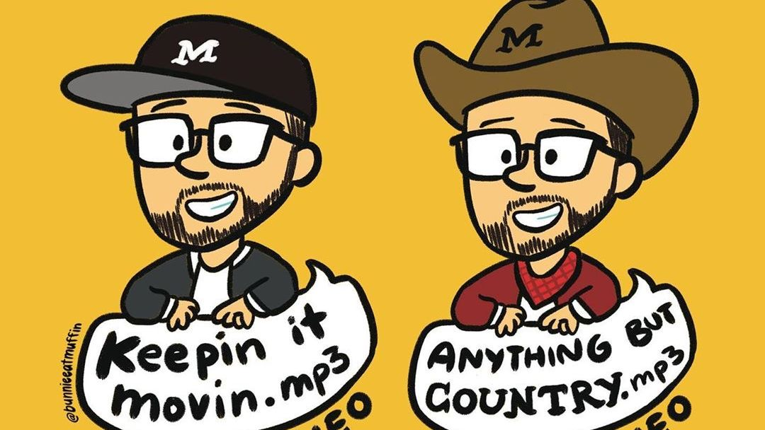 Shoutout to @bunnieeatmuffin for these dope cartoon @andymineo characters! Pre-add #AndysWIP at http://andymineo.work and listen to the single and podcast for #KeepinItMovin and #AnythingButCountry now!