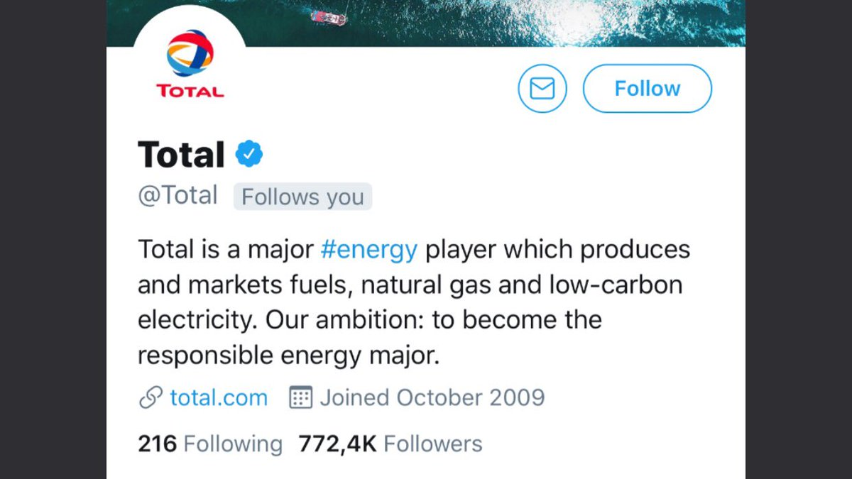 You spend close to $30.000.000 each year on climate lobbying.   You are one of the 20 biggest GHG emitters in the world.   And then you follow me?  I believe I speak for many when I ask you to #LeaveItInTheGround   And I appreciate your interested in my #climatechange tweets <br>http://pic.twitter.com/X254ckhJp2