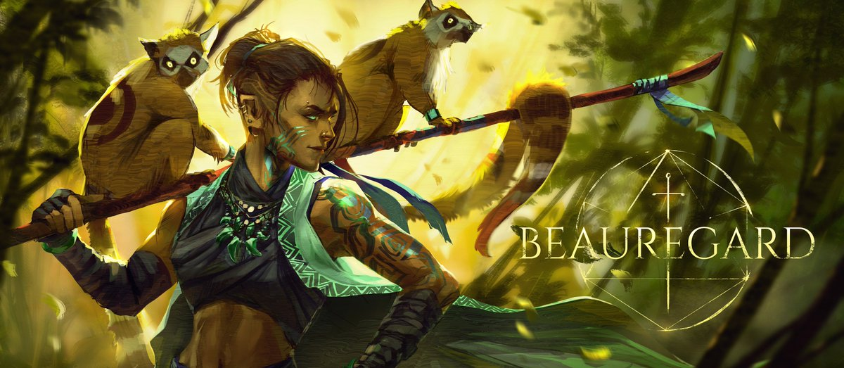 My Brain: #Beau should have a cool raptor or something, they're quick, observant, she's airborne 80% of the time, it's perfect.  My Heart: ZABEAUMAFEAU. BIG WUKONG ENERGY @Marisha_Ray   #Criticalrolefanart #CriticalRole #CriticalRoleArt #dnd<br>http://pic.twitter.com/NrfY9ppbqP