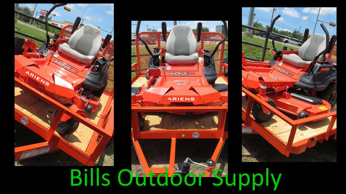 Needing a new mower but don't have a trailer? no big deal come see  us at Bills Outdoor Supply and check out our package deal with our mowers trailers and either chainsaws, weed eaters, blowers and many more supplies. #drbill #ariens #packagedeals #mower #trailer