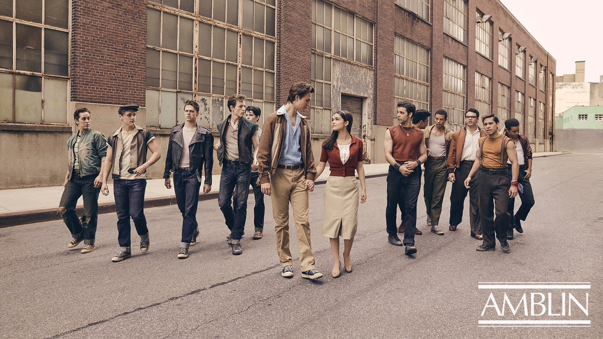 First look at Steven Spielberg's WEST SIDE STORY remake! Rachel Zegler is Maria, Ansel Elgort is Tony, The Jets are on the left, and The Sharks are on the right! What do you think? <br>http://pic.twitter.com/k3y3dR0kPb