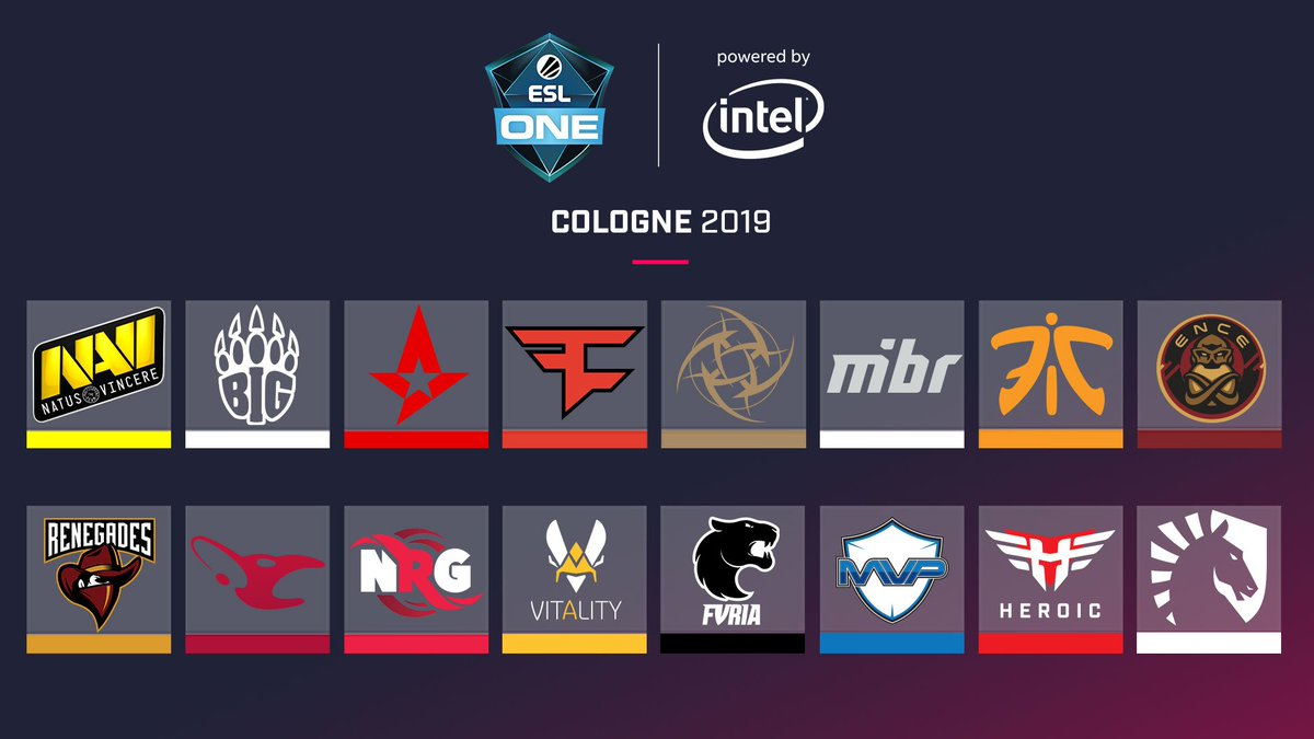 Our roster for #ESLOne Cologne is complete. GLHF to all our teams!  Who do you think will conquer the Cathedral of #CSGO?<br>http://pic.twitter.com/g6qglpEOyY
