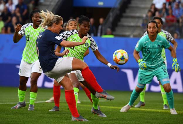 Over an hour gone in Rennes, and the Super Falcons are still holding hosts France goalless.  The team may be losing the ball so frequently, but they're holding on. Our expectations from this game shall not be cut off.  #NGAFRA<br>http://pic.twitter.com/EBkeyYGCI8
