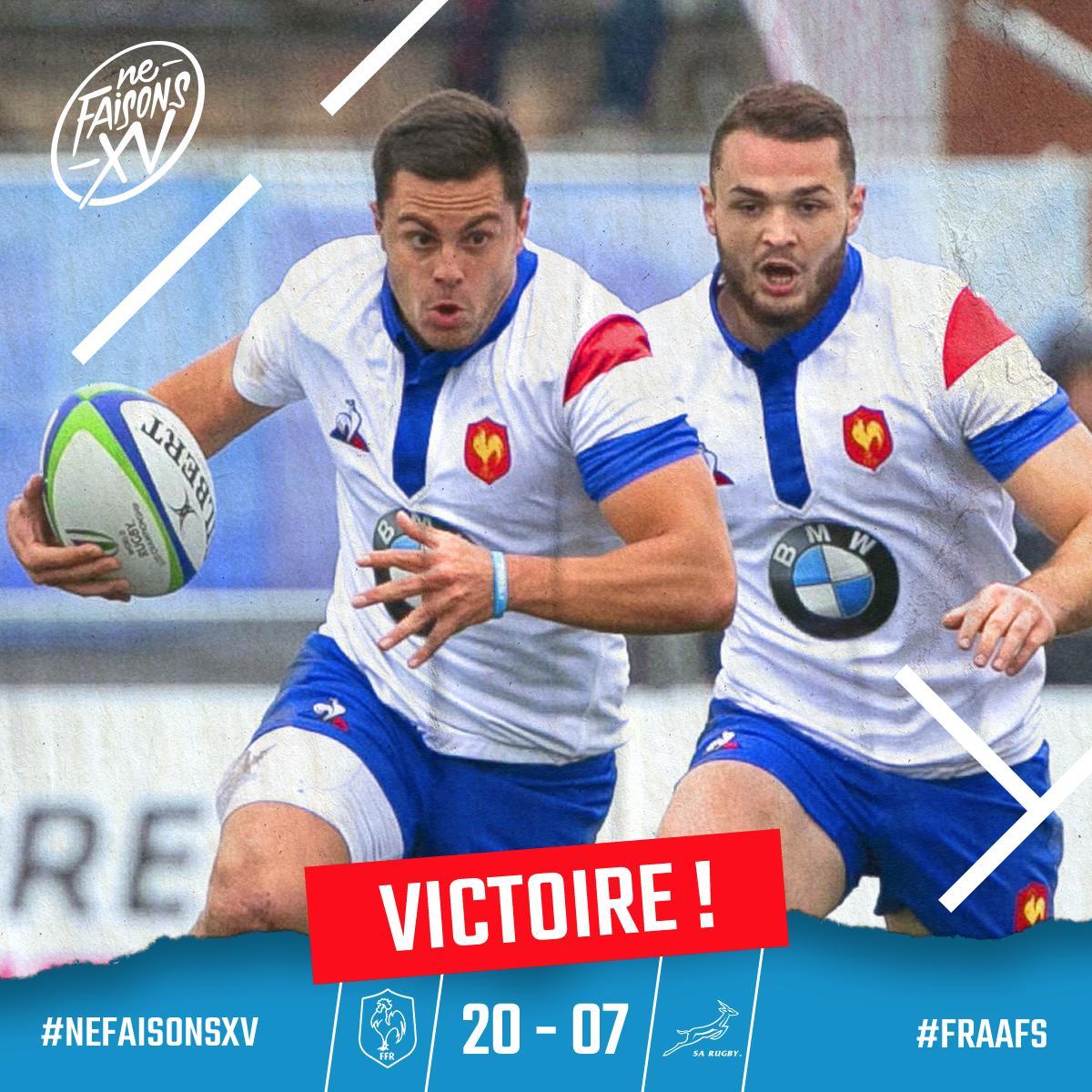 🇫🇷🇿🇦 FI-NA-LI-STES !!! L'équipe de #FranceU20 disputera samedi la pour la deuxième fois consécutive la finale du Championnat du Monde ! MAGNIFIQUE les garçons 😍😍😍 !!! 👊🏻👊🏻👊🏻 #FRAAFS #NeFaisonsXV #WorldRugbyU20s