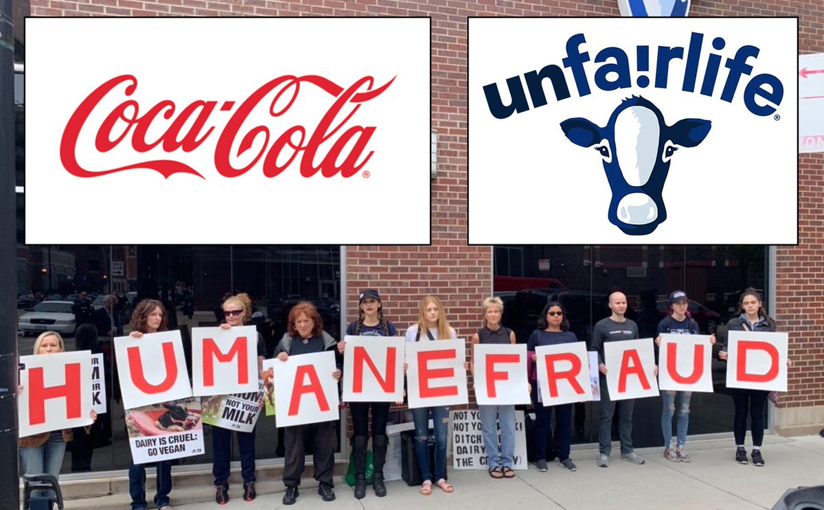 """If @CocaColaCo believes that """"animal cruelty is unacceptable,"""" then why did it invest $85M in a @fairlife milk factory in Canada? @CocaCola must know that #Dairy cannot be produced without mutilation and tearing newborn calves away from their mothers. Coca Cola: #DitchDairy @ajc<br>http://pic.twitter.com/xuLoB261id"""