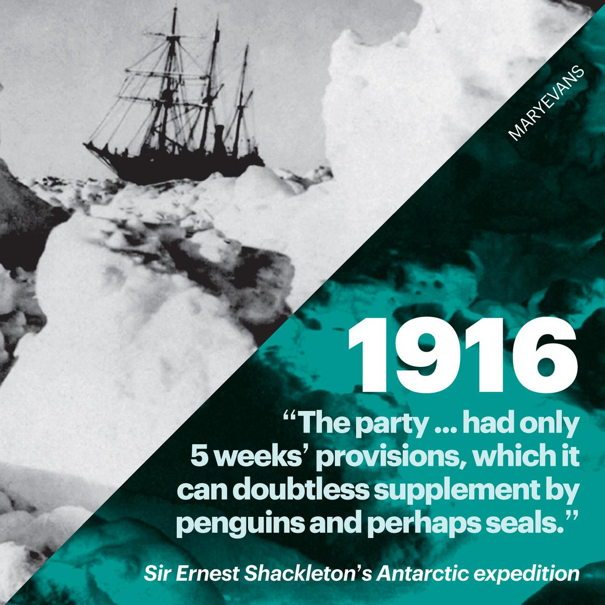 "An account in Nature of Sir Ernest Shackleton's Antarctic expedition describes it as ""... one of the most adventurous of Polar expeditions."" Read the full piece from 1916 here: https://go.nature.com/2ZrA0Rl  #Nature150"