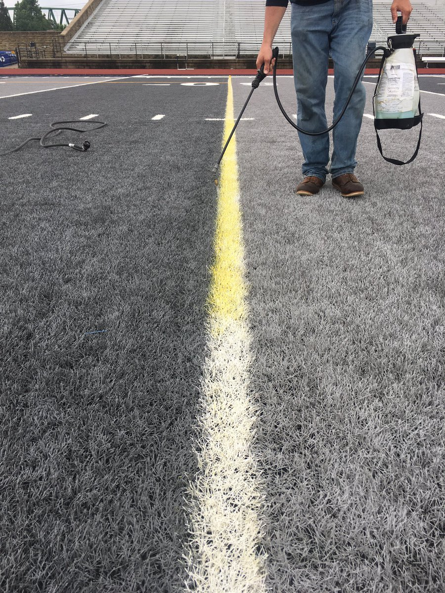 Clearing the lacrosse lines for another @Marietta_FB season that is right around the corner! 🏈 #MariettaCollege #MariettaOhio #PioNation #BringForthAPioneer