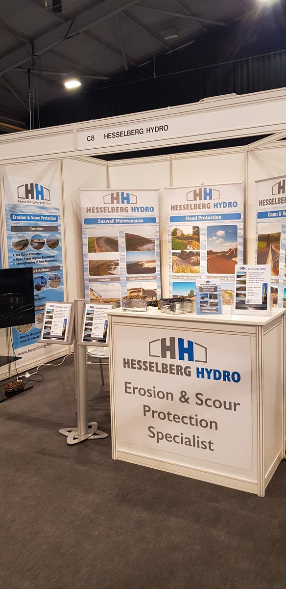 All set up for Flood and Coast 2019 Conference and Exhibition in Telford, 18th-20th June.  Looking forward to seeing existing clients and meeting new ones.  We are on stand C8. #FloodandCoast19 #CoastalErosion https://t.co/RvKVuTwBCL