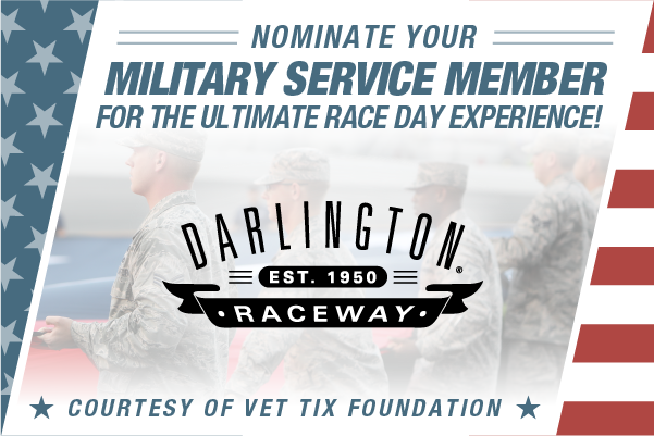 Friend that goes above and beyond the call of duty: ✅ Fan of @NASCAR + #TooToughToTame: ✅ Loves a VIP experience: ✅  Thanks to @VetTix you can nominate your service member for the ultimate time at the #BojanglesSo500 😎  SUBMIT 👉 http://bit.ly/31sYLyt