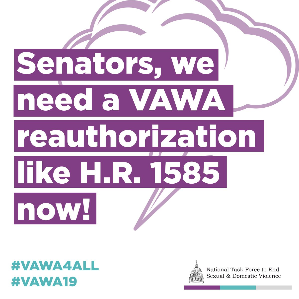 As a survivor, I want my #senators to know it is absolutely vital that it drastically resembles H.B.1585. #SurvivorSpeaks #WALeg Everyone is effected by intimate partner violence in our homes and communities.