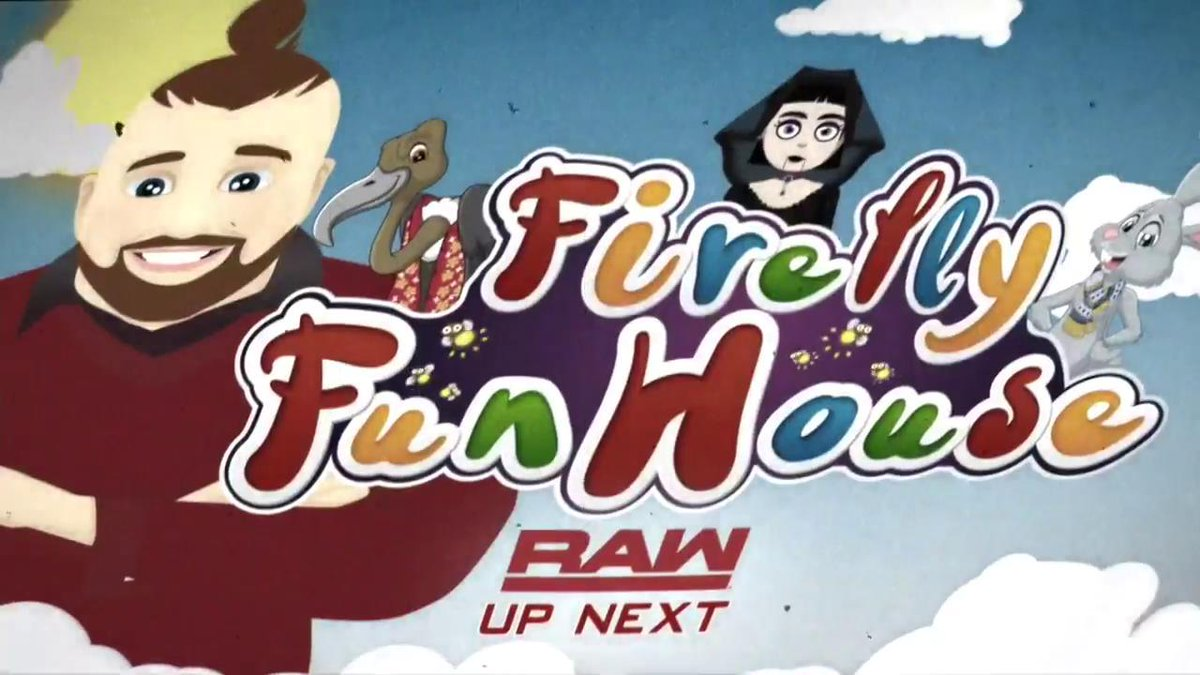 It's time to step inside @WWEBrayWyatt's #FireflyFunHouse NEXT on #RAW...<br>http://pic.twitter.com/KyDpH2q9ik