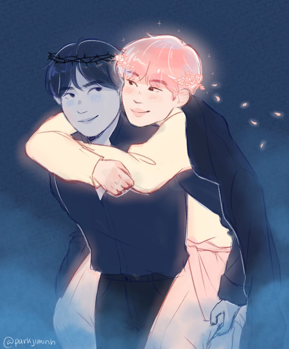 vmin au where the god of spring, jimin, chills in the underworld to go on dates with the king of the underworld, taehyung, and fucks shit up along the way  #btsfanart #vmin <br>http://pic.twitter.com/hUjheDJZh9