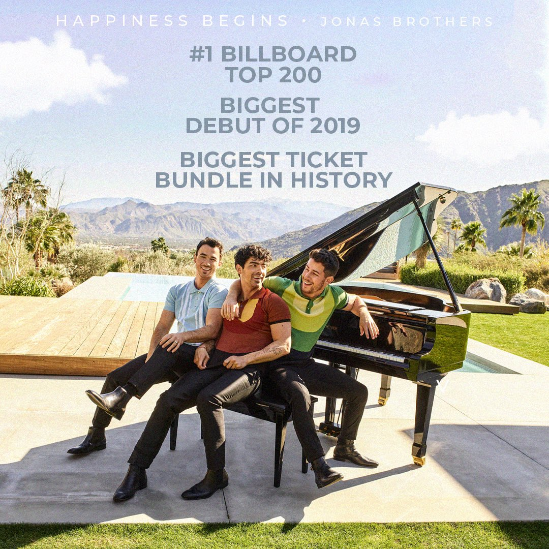 WE ARE SO PROUD OF @jonasbrothers!!! #HappinessBegins has taken over 2019  <br>http://pic.twitter.com/gT9AiF4wOv