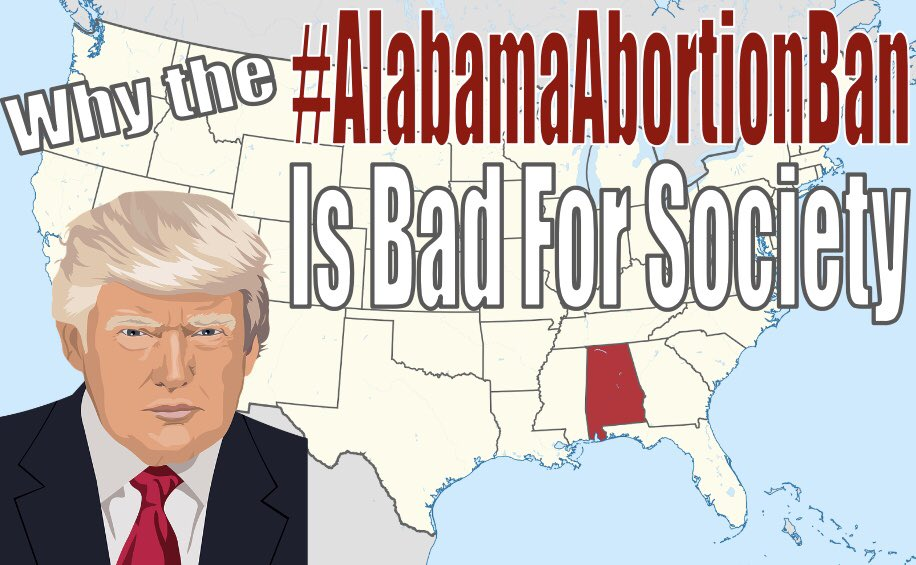 Check out the full video on why the #alabamaabortionbill is bad for society      YouTube:  https://www. youtube.com/watch?v=Go3vlv NiYeg&t=4s  … <br>http://pic.twitter.com/Fzcpbsk2r8
