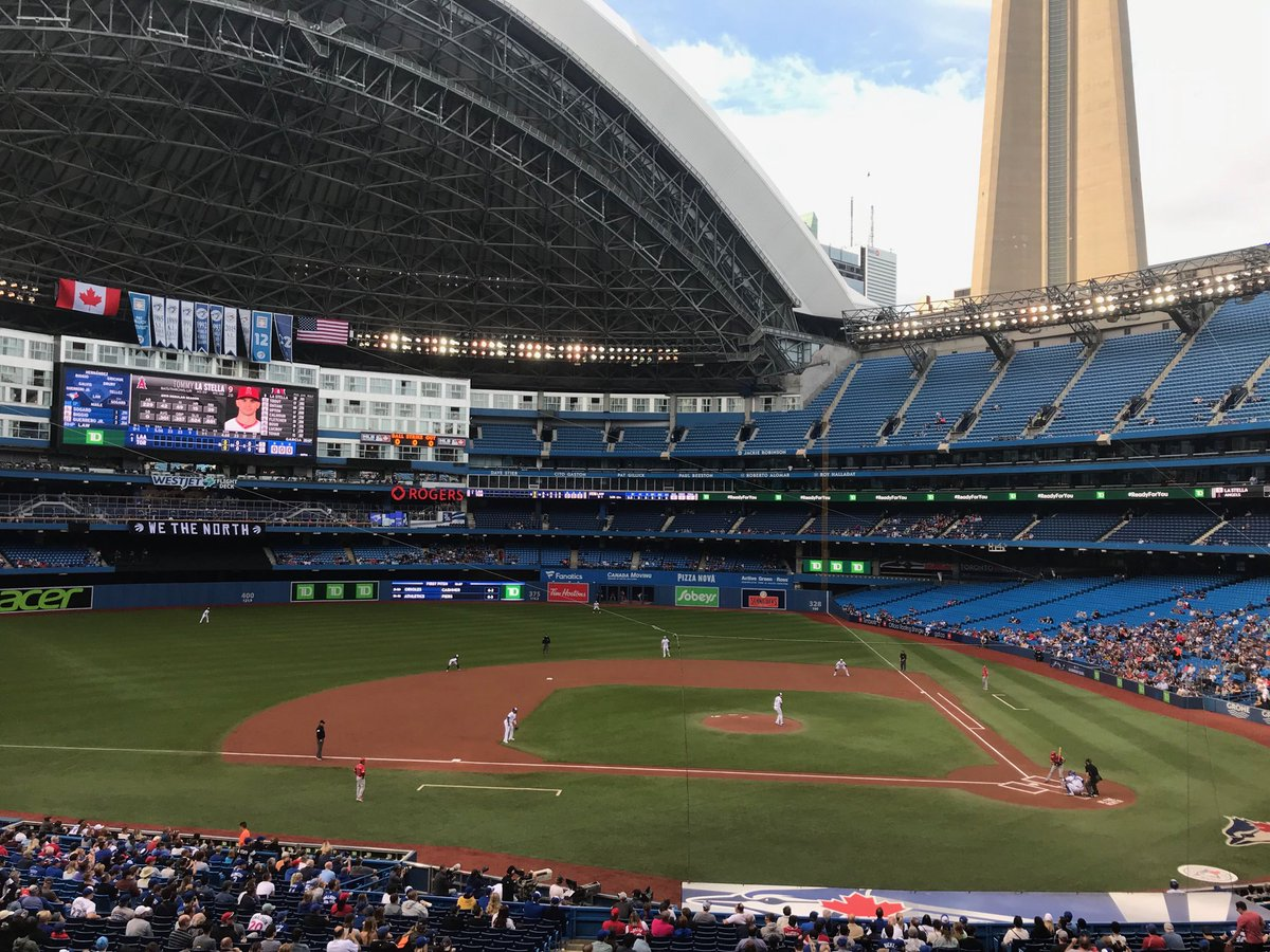 It's the biggest sporting event of the day in Toronto: Edwin Jackson (and his 10.22 ERA) pitching for the #BlueJays vs. #Angels @RogersCentre