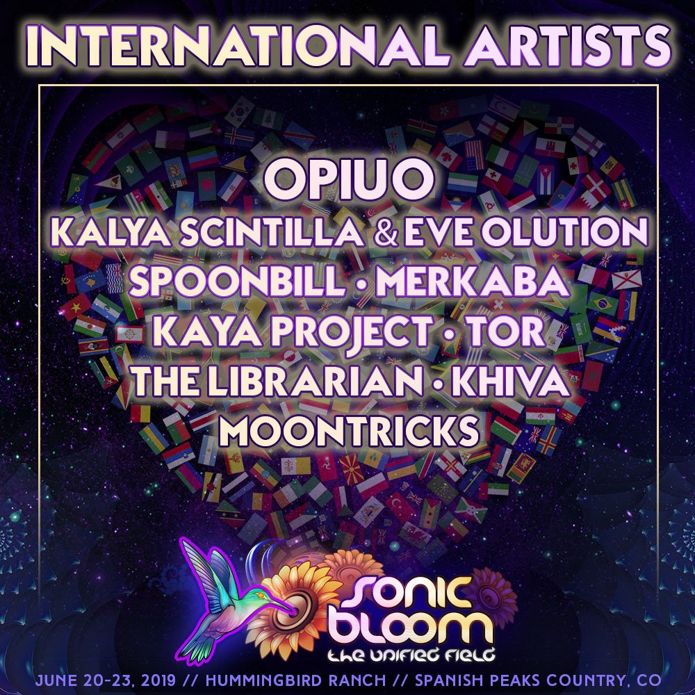Come experience next-level artists from all over the planet! #sonicbloom   Prices increase tonight - last call Tier-4 tix! http://sonicbloomfestival.com