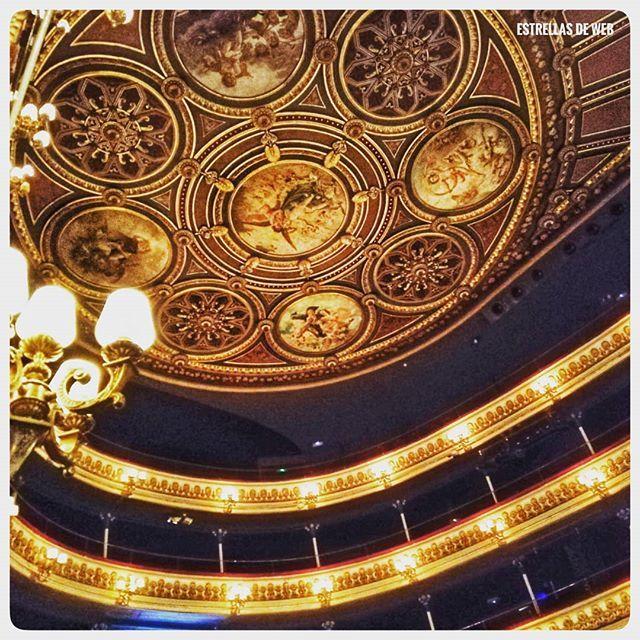 Esperando el comienzo de la función el tiempo pasa más rápido contemplando el maravilloso techo del Teatro Principal 😊😊 Por el contrario horrorosa y peligrosa la distribución de las nuevas butacas 🤪🤪 Como lo ves?? . . . #teatro #teatroprincipal #techo #estrellasdeweb  168/365