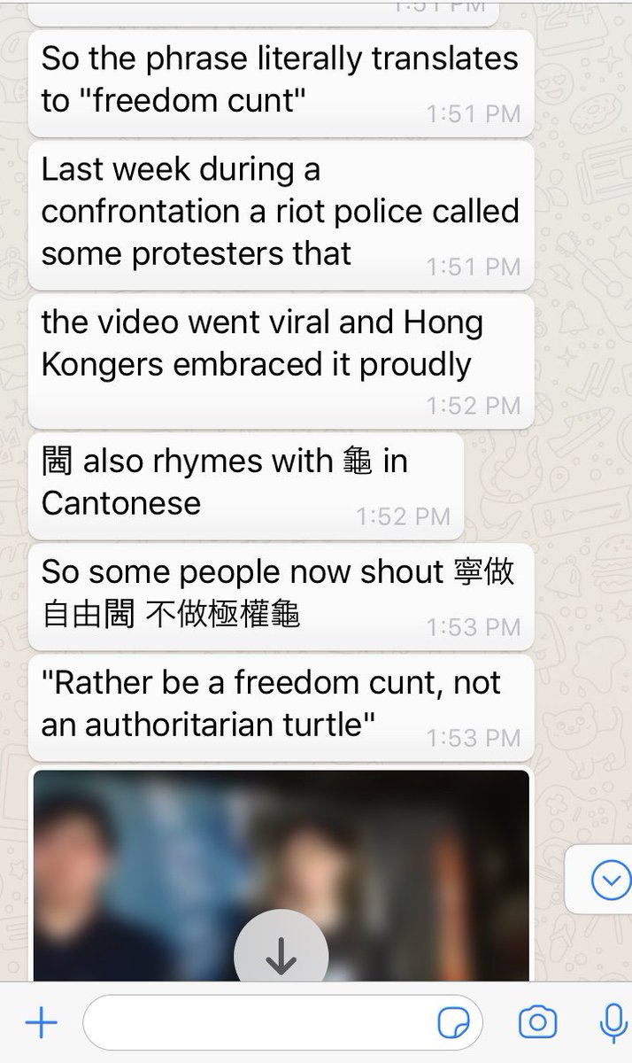2/2 The c-word:  weaponized in the war against autocracy!  Let's not forget that Cantonese is another Chinese language, not a dialect, and has its own written forms (not all vulgar)  #HongKongProtests