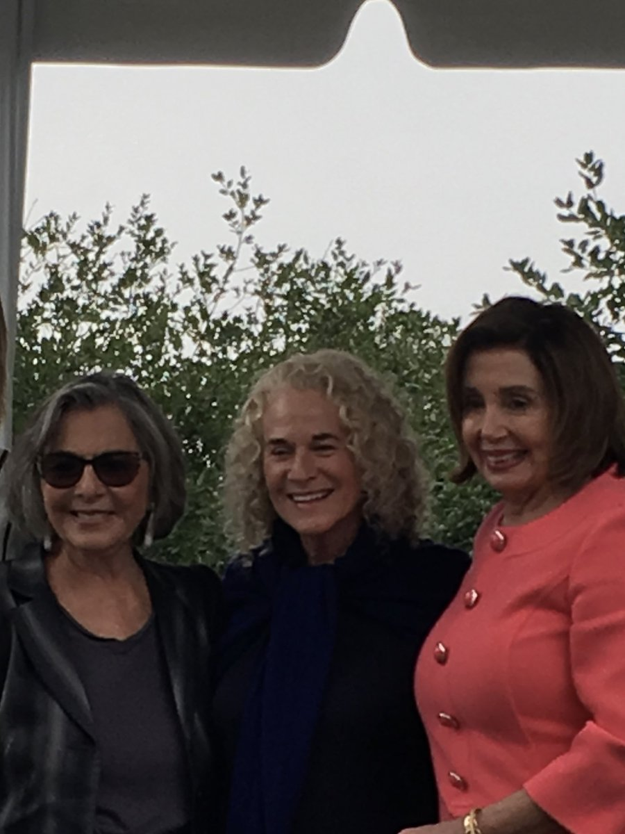 With @BarbaraBoxer @Carole_King @SpeakerPelosi today. Will tell u about it tomm @StephMillerShow #VoteBlueNoMatterWho <br>http://pic.twitter.com/yAJuhDWq31